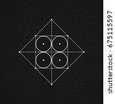 sacred geometry. vector... | Shutterstock .eps vector #675115597