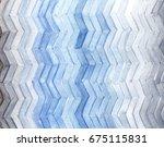 Watercolor Zigzag Stripe...