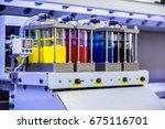industry ink tank printer  | Shutterstock . vector #675116701