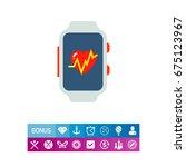 fitness tracker icon | Shutterstock .eps vector #675123967