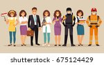 set of people with different... | Shutterstock .eps vector #675124429