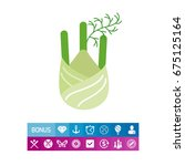 fennel root icon | Shutterstock .eps vector #675125164