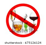 different alcohol drinks in... | Shutterstock . vector #675126124