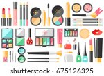 vector flat cosmetics set.... | Shutterstock .eps vector #675126325