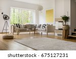 open space in modern decorated... | Shutterstock . vector #675127231