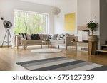 scandinavian style design of... | Shutterstock . vector #675127339