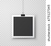 photo frame with shadow hanging ... | Shutterstock .eps vector #675127345