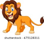 cartoon angry lion | Shutterstock . vector #675128311