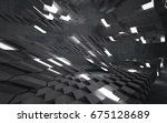 empty dark abstract concrete... | Shutterstock . vector #675128689