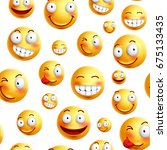 smiley face pattern vector... | Shutterstock .eps vector #675133435