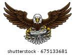 an eagle cartoon character... | Shutterstock .eps vector #675133681