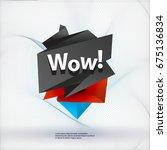 black polygonal label | Shutterstock .eps vector #675136834