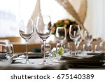wine glass  | Shutterstock . vector #675140389