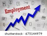 close up of employment text ... | Shutterstock . vector #675144979