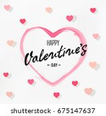 happy valentine's day card | Shutterstock .eps vector #675147637