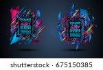 futuristic frame art design... | Shutterstock .eps vector #675150385