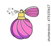 retro deodorant bottle with... | Shutterstock .eps vector #675155617