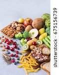 healthy balanced dieting... | Shutterstock . vector #675156739