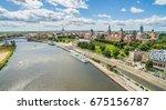 szczecin from the bird's eye... | Shutterstock . vector #675156787