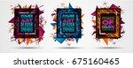 futuristic frame art design... | Shutterstock . vector #675160465
