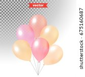 set of pastel colored shine air ... | Shutterstock .eps vector #675160687