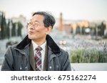 japanese senior old man... | Shutterstock . vector #675162274