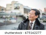 japanese senior old man... | Shutterstock . vector #675162277