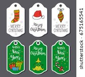 christmas and new year greeting ...   Shutterstock .eps vector #675165541