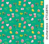 cute and colorful vector... | Shutterstock .eps vector #675168901