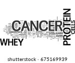 whey protein and cancer text... | Shutterstock .eps vector #675169939