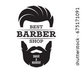 barber shop isolated vintage... | Shutterstock .eps vector #675171091