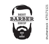 barber shop isolated vintage... | Shutterstock .eps vector #675171121