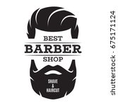 barber shop isolated vintage... | Shutterstock .eps vector #675171124