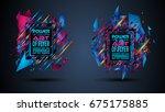 futuristic frame art design... | Shutterstock . vector #675175885