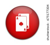 playing card symbol. | Shutterstock .eps vector #675177304
