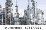 industrial zone the equipment... | Shutterstock . vector #675177391