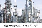 industrial zone the equipment... | Shutterstock . vector #675177391