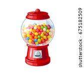 gumball machine. transparent... | Shutterstock .eps vector #675182509