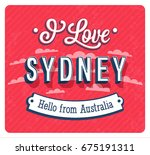 vintage greeting card from... | Shutterstock .eps vector #675191311