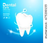 dental care and teeth on... | Shutterstock .eps vector #675200155