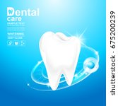 dental care and teeth on... | Shutterstock .eps vector #675200239