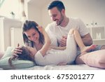 parents having fun with their...   Shutterstock . vector #675201277