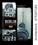 photo print berlin illustration ...   Shutterstock . vector #675207181