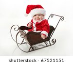 Adorable Young Baby Wearing A...