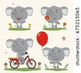 collection isolated koala bear... | Shutterstock .eps vector #675215065
