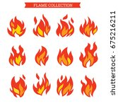 fire icon set for you design | Shutterstock .eps vector #675216211