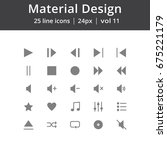 material design play line icons | Shutterstock .eps vector #675221179