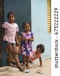 las terrenas  dominican... | Shutterstock . vector #675222229