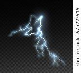 realistic shiny lightning... | Shutterstock .eps vector #675222919