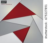 red and gray background web... | Shutterstock .eps vector #675227851